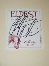 Author CHRISTOPHER PAOLINI Signed ELDEST Bookplate Book AUTOGRAPH