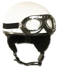 Helm Halbschale wei�Ÿ mit Brille, Helm, Bike, Schutzhelm         -NEU-