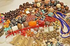Large lot Authentic African & Indonesian Beads- Baule, Masi Glass, Copal- A2118c