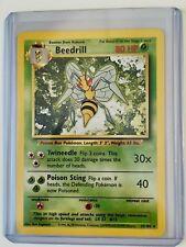 BEEDRILL 17/102 ENGLISH Vintage Base RARE NonHOLO Pokemon NEAR MINT CONDITION