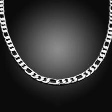 Figarokette Halskette Sterlingsilber pl. 925 6mm Herren k33