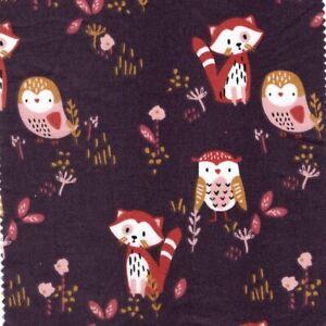 Sokidy Red Panda Main - Cotton Fabric Children's Dressmaking Quilting