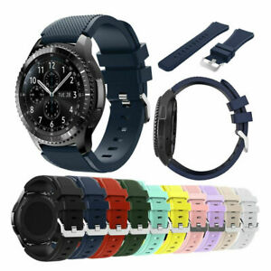 US For Samsung Gear S3 Frontier/Classic 46mm Silicone Bracelet Strap Watch Band