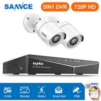 SANNCE H.264 4CH 1080P HDMI DVR 2x 720P 1500TVL CCTV IR Security Camera System