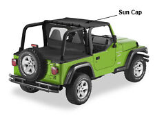 Jeep Wrangler TJ 96-02 Pavement Ends Sun Cap Black, In-stock AUS, FREE del