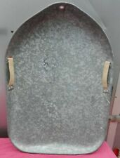 Vintage 1950's Galvanized Steel Oval Flying Saucer Type Snow Sled Pre-Aluminum