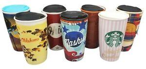 Starbucks 2016 12 oz Ceramic Choose States/Cities Travel Tumbler Limited Edition