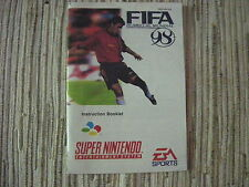 FIFA 98 SNES SUPERNINTENDO MANUAL ORIGINAL USADO BUEN ESTADO
