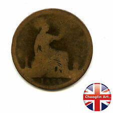A British Bronze 1874 H VICTORIA PENNY Coin (Heaton)             (Ref:1874_47/8)
