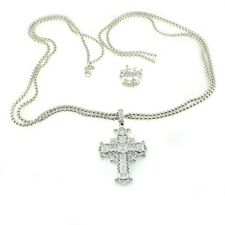 """Fortune Crown/Cross Pendant 30"""" Necklace Hsn Real Collectibles by Adrienne Good"""