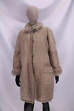 SHEARLING MONTONE SHEEPSKIN Giubbino Jacket Coat Cappotto Tg 48 Donna Woman A