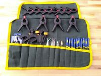 59pc Craft Model Tool Kit For Airfix Hornby Train Track Cutting Set Roll Up Case