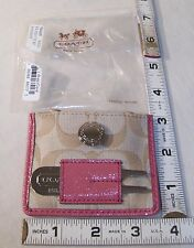 COACH LADIES KHAKI & CORAL GOLF TEE HOLDER SET STILL IN PACKAGE