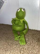 """Vintage 1979 Muppet Sad Kermit the Frog 8"""" Beanbag Plush Fisher Price 864VGC"""
