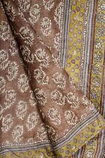Vintage Indian Pure Tussar Silk Saree Woven Sari Sarong Wrap Antique Textile