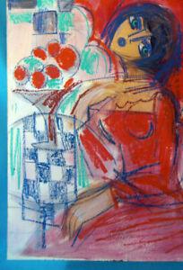 HRASARKOS Tableau Peinture Mixte sur panneau 60 cm x 80 cm Ref302762026099