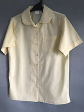 BNWT Girls Sz 16 LW Reid Brand Lemon Peter Pan Collar Short Sleeve School Shirt