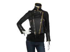 NWT BURBERRY Prorsum Black Lambskin Leather Biker Jacket 40 6  ~ Retail $3995