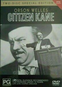 Citizen Kane - 2 Disc Special Edition region 4 DVD (Film Noir Orson Wells movie)