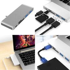 USB C Hub USB Type C Male Adapter SD/TF Dock Converter for PC Phone New