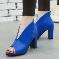 Women Gladiator Sandals Sexy Peep Toe Slip On High Heel Party Dress Pumps Shoes