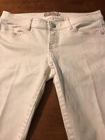 Elie Tahari Women's Jeans White Stretch Straight Leg Jeans Size 6 X 29