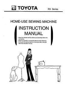 TOYOTA RS2000 Single Dial Sewing Machine Owners Manual Users guide