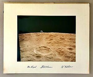 Vtg Photo SIGNED BY APOLLO 14 ASTRONAUT Alan Shepard Stuart Roosa Edgar Mitchell