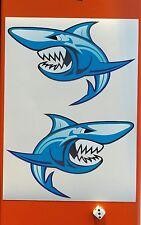 Angry tiburón Pegatinas de vinilo de 10 año de tintas Eco Solvente Fade y resistente al agua