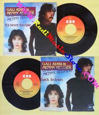 LP 45 7''GALI ATARI & MENNY BEGGER It's never too late Back in town no cd mc dvd