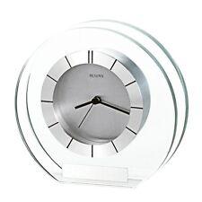 *Brand New* Bulova Silver Tone Face Spun Aluminum Bezel Clocks B2842