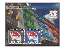 Singapore 2015 World Stamp Exhibition Commemorative Silk Mini Sheet MUH /Folder