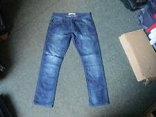 "Topman Vintage slimJeans Waist 34"" Leg 30"" Faded Dark Blue Mens Jeans"