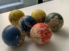 Vintage wooden french boules