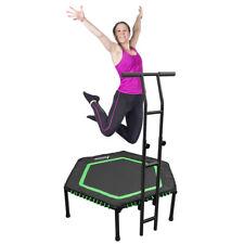 "48"" Folding Mini Trampoline Fitness Rebounder Adjustable Handle Exercise Bounce"