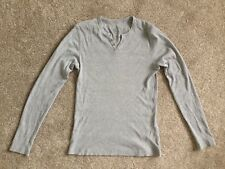 Men's Burton Ribbed Jumper, Grey, Size Small