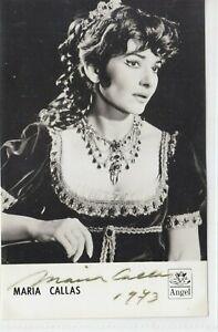 AUTOGRAPHED PHOTO OF OPERA SINGER Maria Callas soprano in Tosca