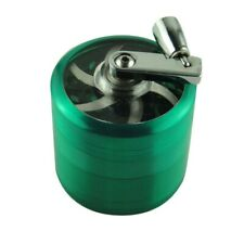 US Plant Herb Grinder Spice Herbal Alloy Crusher 4 Layer Metal Hand Muller Green