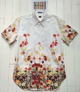 Paul Smith Shirt - FAB FLORAL PRINT - L Short Sleeved SUPERB / COOL / RARE