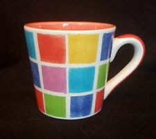 Whittard Coffee Cup NEW Mosaic Coloured Squares Design 7.5cm NEW