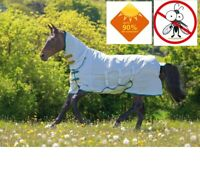 Shires Tempest Plus Sweet Itch Combo Fly Bug Midge Horse Rug + 90% UV Protection