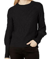 NWT Kensie Womens Cotton Blend Sweater Black Size S