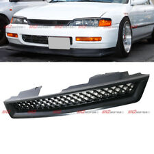 JDM Honeycomb ABS Black Hood Mesh Front Grill Grille Fits 94-97 Honda Accord