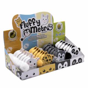 "Fluffy Animals Tape Measure Retractable 150cm/60"" Pom Pom Tail SewTasty"