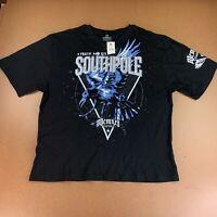 Southpole Men's Size 5XB Black Short Sleeve Classic Foil Graphic T-Shirt NWT
