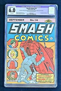 SMASH COMICS 14 CGC 6.0 FIRST APPEARANCE OF THE RAY LOU FINE