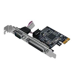 SIIG Single Serial (RS-232) Port & Single Parallel Port PCIe Card, 16C550 UART