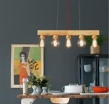 European Simple Creative  Wooden 5 Lights  Bedroom/Living Room Pendant Light *