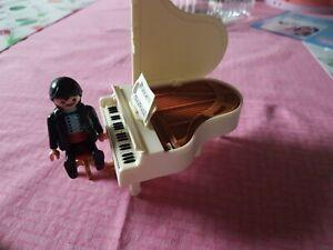 Playmobil 4309 Klavier mit Spieler 2 Melodien ,Nostalgie Puppenhaus !!