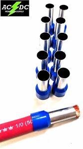 10 1/0 0 gauge 25mm TINNED COPPER WIRE ferrule car audio amplifier amp input 7